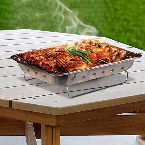 BBQ BigBuy - Barbecue monouso, in argento, taglia unica