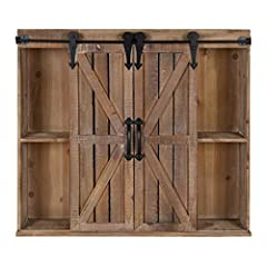 VINTAGE FARMHOUSE CHARM: The Cates Wall Storage Cabinet provides function and style with decorative charm. The rustic wooden finish and sliding barn door adds a quirky addition to your home decor RUGGEDLY BUILT - Designed to last, this cabinet has a ...
