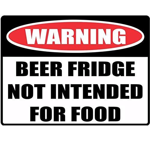 Wandtattoos Wandbilder(2 Teile/Satz) Lustige Warnschild Nicht Empfohlen Für Lebensmittel Bier Kühlschrank Auto Aufkleber Reflektierende Aufkleber 16 X 11.8 Cm