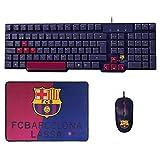 Mars Gaming BLBC2 - Pack de teclado, ratón y alfombrilla del FC Barcelona Lassa
