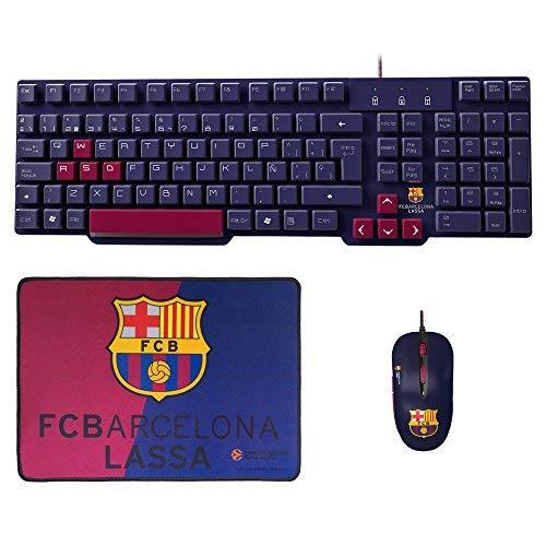 MARSGAMING Mars Gaming BLBC2, Pack Gaming Oficial FC Barcelona Teclado, Ratón y Alfombrilla PS4/XBOX/PC