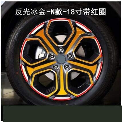 ZQTG Brightly Cool Reflective 18 Inch Wheels/Rim Sticker/Film for Renault Kadjar Car Sticker Decal (Nombre del Color: Marrón)