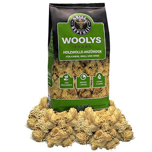 Allume-feux pour en bois écologique copeaux de bois et cire - Inodores et longue durée de combustion 2,5 kg