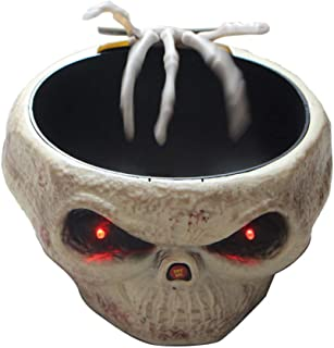 EAPTS Halloween Candy Bowl Dish with Animated Hand Spooky Decoration Props Party Bar