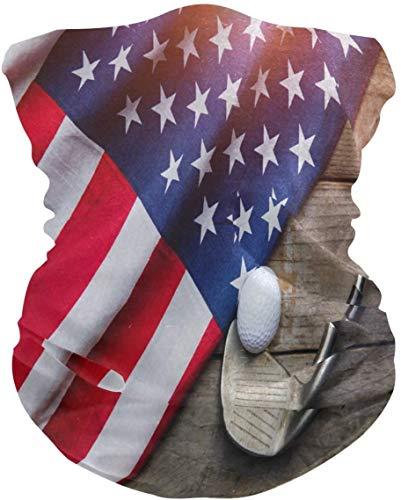Keyboard cover American Flag Sport pelota de golf, cara al sol, resistente al viento, multifunción, bandana sin costuras, para deportes al aire libre One_color. Talla única