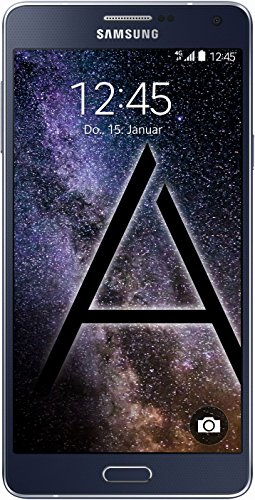 Samsung Galaxy A7 Smartphone (13,9 cm (5,5 Zoll) Full HD Super AMOLED-Bildschirm, 1,8GHz Quad-Core Prozessor, 13 Megapixel-Kamera, Android 4.4) midnight-black