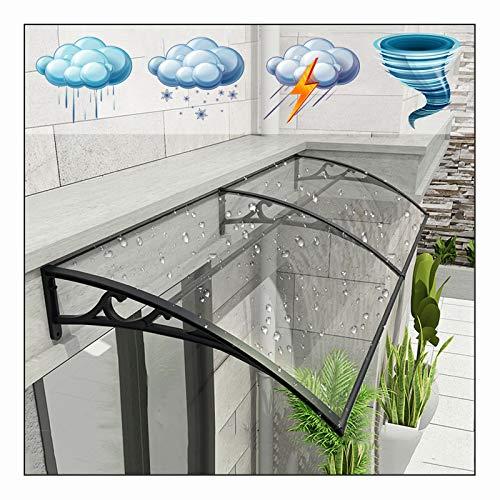 LIANGLIANG Vordach Haustür Überdachung, Polycarbonat Beleuchtung Flammhemmend Selbstreinigend, Benutzt für Türen und Fenster Außenklimaanlage Kühlkörper (Color : Transparent, Size : 150x60cm)