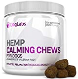 Calming Chews for Dogs + 120 Hemp Calming Treats for Dogs with Anxiety + Made with Organic, Natural Hemp Oil - A Dog Supplement for Stress, Separation Anxiety, Relaxation, to Calm Down Aggression