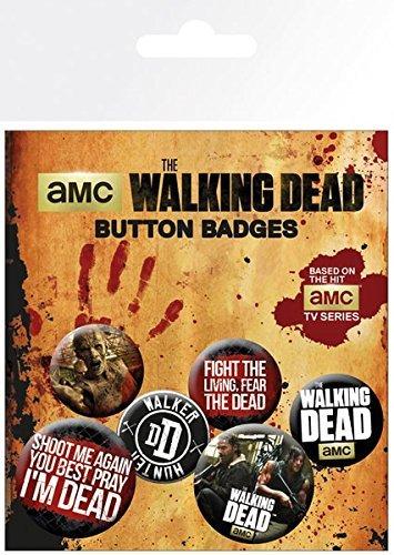 The Walking Dead GB Eye Ltd, Frases, Set di Spille, Multicolore, Standard
