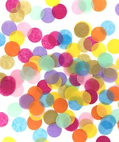 TECCA Confetti - Premium Quality Colorful Tissue Paper Confetti Circles - Specially Crafted for Birthdays, Weddings, Baby Showers, Arts & Crafts, Packaging and More!