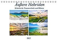 Aeussere Hebriden - Schottische Traumstraende und Kuesten (Tischkalender 2022 DIN A5 quer): Bilderreise ueber die Inseln der Aeusseren Hebriden im Westen Schottlands (Monatskalender, 14 Seiten )
