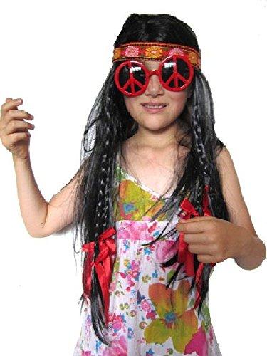 Mondial-fete - Perruque Hippie à Flots Rouge