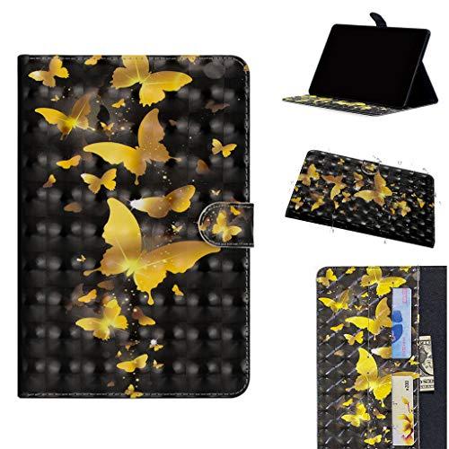Careynoce Galaxy Tab S4 10.5 hoesje, 3D patroon PU lederen magnetische boek Flip Wallet Tablet Case voor Samsung Galaxy Tab S4 SM-T830/T835/T837 10.5 inch 2018 met automatische slaap/Wake functie, CH-01, Samsung Tab S4 10.5