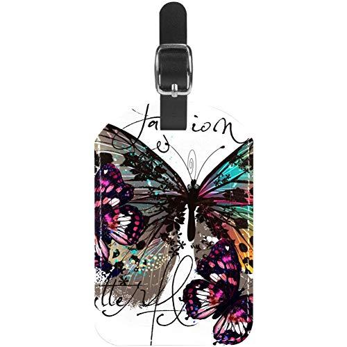 Etiquetas de Equipaje Etiquetas de Maleta de Viaje de Cuero de Mariposa de Moda 1 Paquetes