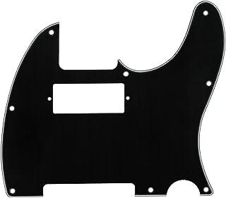IKN 3Ply Black 8 Hole Tele Mini Humbucker Pickguard with Screws Fit USA/Mexican Fender Telecaster Humbucker Pickguard Replacement