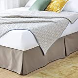 LINENSPA 14 Inch Wrinkle and Fade Resistant-Machine Washable-Easy Use Pleated Microfiber Bed Skirt