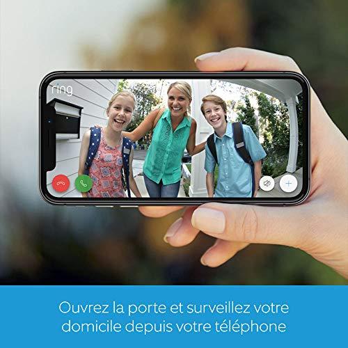 Ring Video Doorbell 2   Sonnette Vidéo HD 1080p, système audio bidirectionnel, détection de mouvements et connexion Wi-Fi