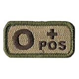 Tactical Blood Type Patches -'Type O Positive' - 2'x1' (Multitan)