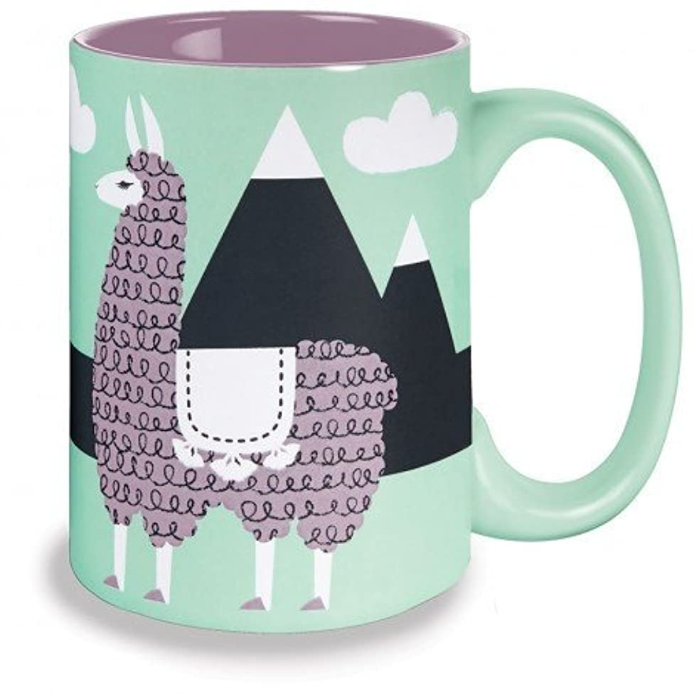 Kitsch'n Glam 16 Oz Mug, Llama, Mint