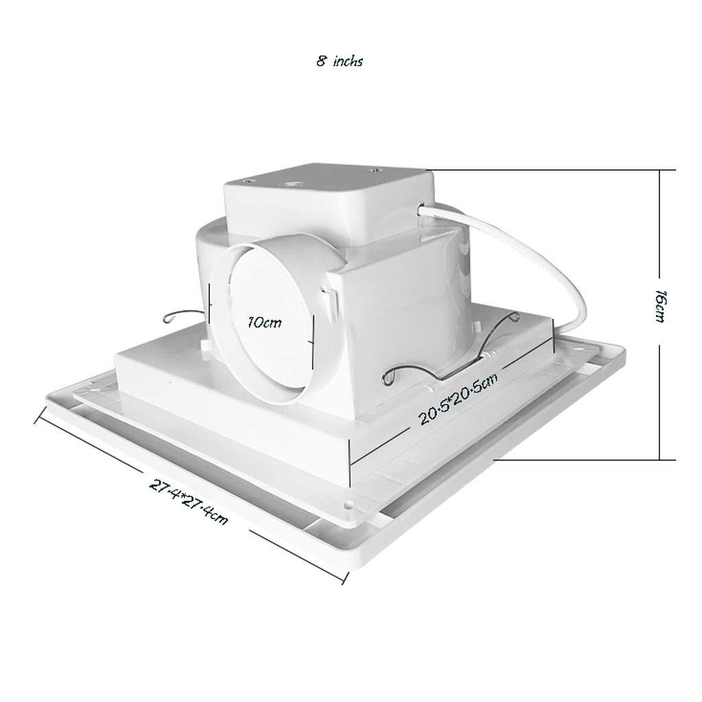 Extractor De Pared/Techo De Ventilación De Baño 8 Pulgadas ...