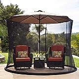 XBR 2021 New Parasol Gazebo Umbrella Su sombrilla en un Gazebo Cubierta para Mosquitos de jardín al Aire Libre, se Adapta a sombrillas y mesas de Patio de 9-10 pies, Plegable, fácil de Transportar
