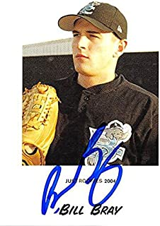 Autograph Warehouse 244983 Bill Bray Autographed Baseball Card - Montreal Expos44; FT 2004 Just Minors - No. 9 Rookie