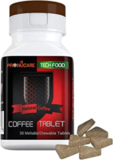 CHEWABLE Coffee Portable Natural MELTABLE Tablet Slim Support NO Sugar Added NO Artificial Colors and Flavors 30 Tablets