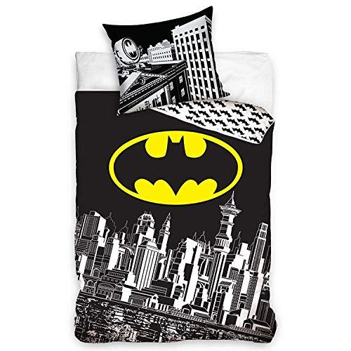 Batman beddengoed set 100% katoen dekbedovertrek 140 x 200cm kussensloop 70 x 80cm