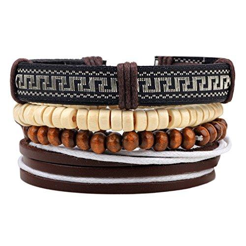 Leren armband, houten kralen maken meer sieraden van stof met parels