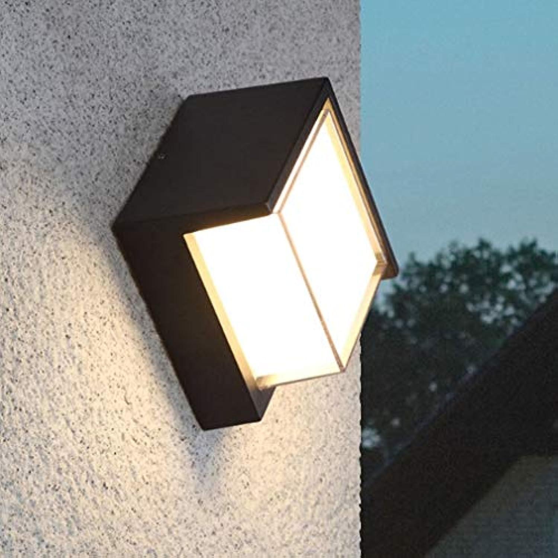 JZMB Moderne LED Wandleuchte Design Kreative Schwarze Wandbeleuchtung Wohnzimmer Esszimmer Schlafzimmer Kopfteil Halle Wandleuchte Aluminium Dekorative Auerhalb Innenbeleuchtung D16cm 10W Warmes Lich