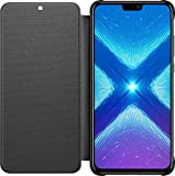 Honor 8X - PU Flip Protective Cover, Midnight Black