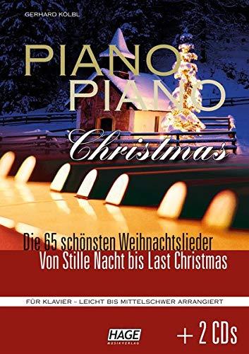 Piano Piano Christmas + 2 CDs:  Die 65 schönsten Weihnachtslieder - Von Stille Nacht bis Last Christmas