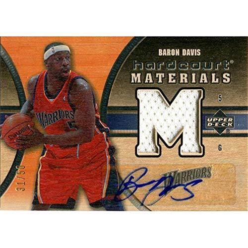 Baron Davis Autographed 2005-2006 Upper Deck Jersey Card