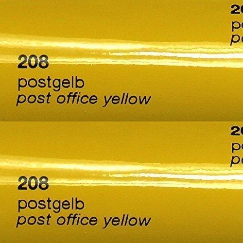 8,25€/m² Oracal 751c - 208 Post Gelb - Glanz Klebefolie - 5m x 63cm - Folie - Moebelfolie - Plotterfolie - Selbstklebend - gegossen - cast