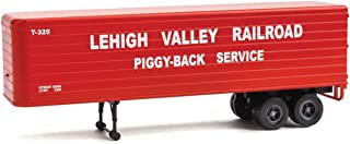 35' Fluted-Side Trailer 2-Pack - Assembled -- Lehigh Valley (red, white; Piggy-Back Service)