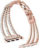 Cinturino di ricambio per iWatch serie 6,5,4,3,2,1, da donna, regolabile, in acciaio inox