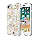 kate spade new york Funda para iPhone 8/7/6/6S – Multi Blossom Rosa/Dorado con Gemas