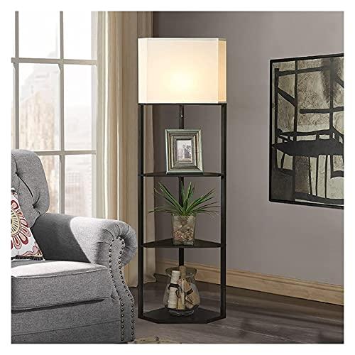 BaiHogi Interruptor de Alambre DIRIGIÓ Lámpara de pie, lámpara de Tela Simple y Creativa, Adecuada para la lámpara de pie de repisa de la Cama de Dormitorio [Energy Class A +]
