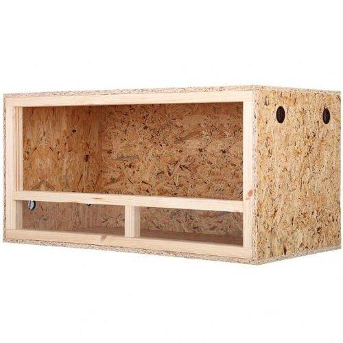 Repiterra® Terrarium aus Holz 120x60x60 cm mit Seitenbelüftung aus OSB Platten mit Floatglas - 2