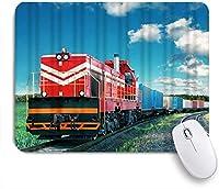 EILANNAマウスパッド 貨物貨物列車輸送鉄道鉄道車両輸送機関車 ゲーミング オフィス最適 高級感 おしゃれ 防水 耐久性が良い 滑り止めゴム底 ゲーミングなど適用 用ノートブックコンピュータマウスマット