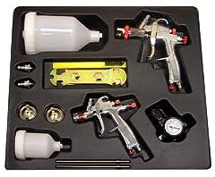 SP-33500 Gravity Feed Mini Spray Gun One-piece lightweight aluminum gun body with 120cc plastic cup SP-33000 Gravity Feed Spray Gun One-piece lightweight aluminum gun body with 20 oz./0.6 l plastic cup Air consumption 2.4 to 3.9 CFM @ 30 PSI Working ...