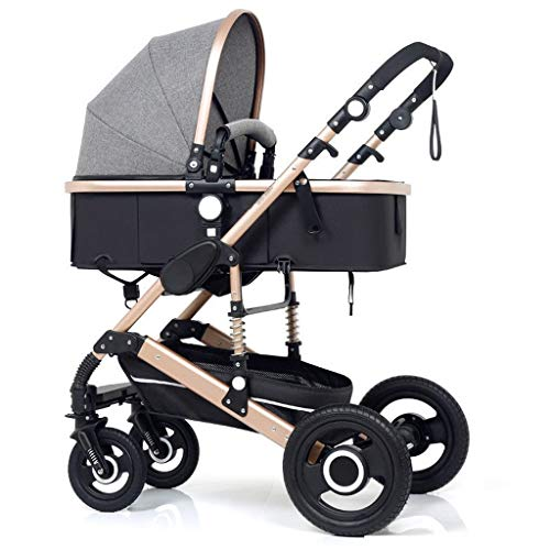Purchase Baby Stroller, Baby Car, High Landscape Stroller, Can Sit and Fold Two-Way Four-Wheel Shock...
