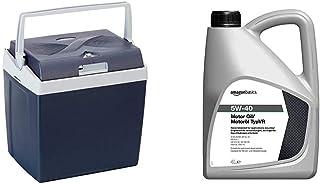 AmazonBasics - Nevera termoeléctrica, 26 litros, Calor/frío, 230 V CA/ 12 V CC + Aceite de Motor 5W-40 TypVR, 4l