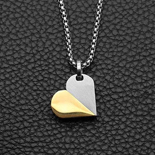 niuziyanfa Co.,ltd Necklace Pendant Necklace Titanium Steel Heart Pendant Stainless Steel Pendant Necklace