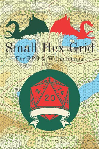 Small Hex Grid: For RPG & Wargaming: 1/4 inch Hex grid