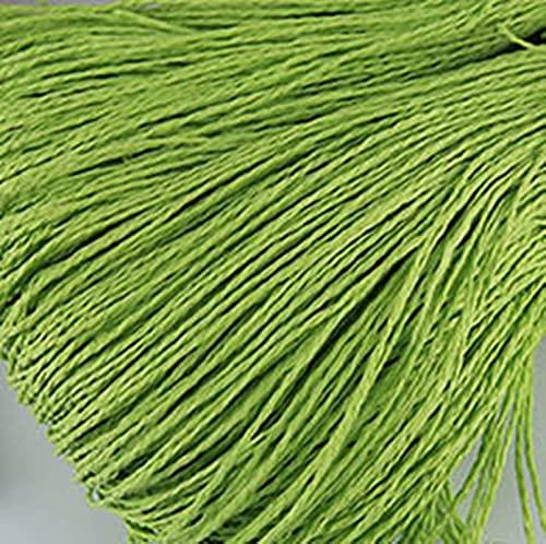 SHIYANTQ 100g/bola Rafia Yarn Kintting Paper Straw Yarn para ganchillo Sombrero de fantasía Hilado de flores Embalaje de verano Moda hecha a mano Material
