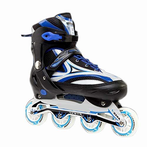 GW Inliner Rollen- Inline Skates Inline Skates Herren Skates ABEC7 Rollen Kohlenstoff inliner mit Einstellbarer Größe Inliner Damen Inline Skates,Blau,42~46