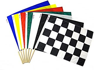 Professional NASCAR Racing Track Official Flag Set with Solid Blue Flag and Carrying Case 24