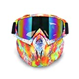 EnzoDate Motorrad Dirt Bike ATV Brille Maske abnehmbare Style Helm Sonnenbrille