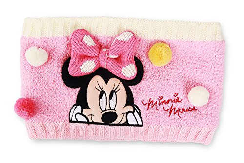 Disney Minnie Mouse Bongbong Cold Weather Neck Gaiter Warmer for Girls (Pink)